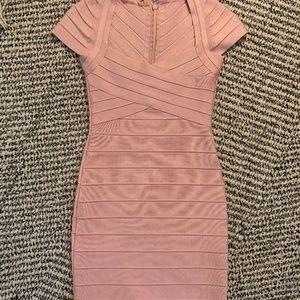 Pink Bandage Bodycon Dress